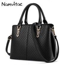 Namvitae Women Bag Lady Handbag Retro Zipper Messenger Bags Pu Leather Female Casual Shoulder Satchel Bag Big Totes Handbag Sac