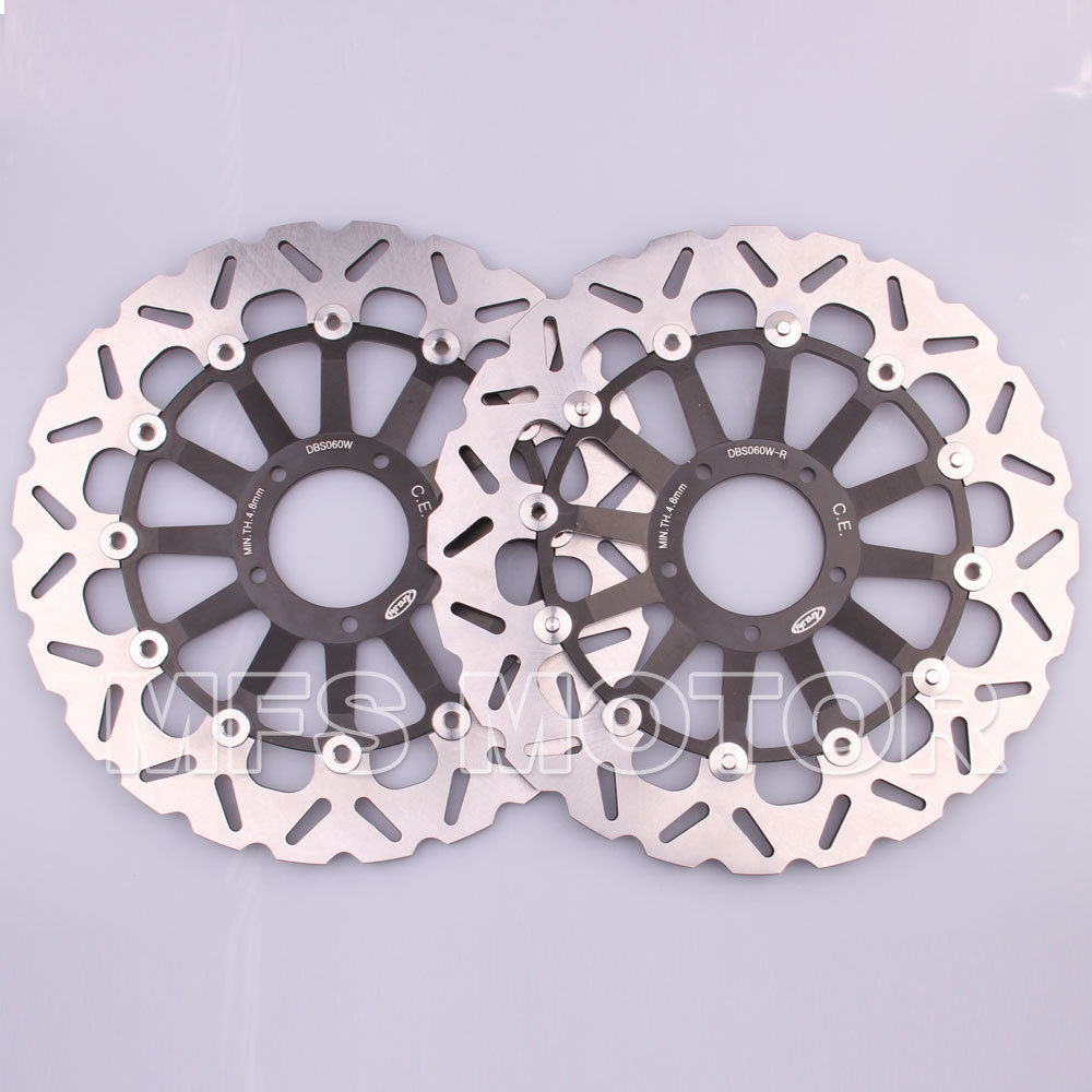 Motorcycle Part Front Brake Discs Rotor For Ducati 1098 1198 1199 S TRICOLORE 2007 2008 2009 2010 2011 2012 2013 2014 Black motorcycle accessories brake rotors parts front brake discs rotor for suzuki gsxr1000 2009 2010 2011 2012 2013 2014