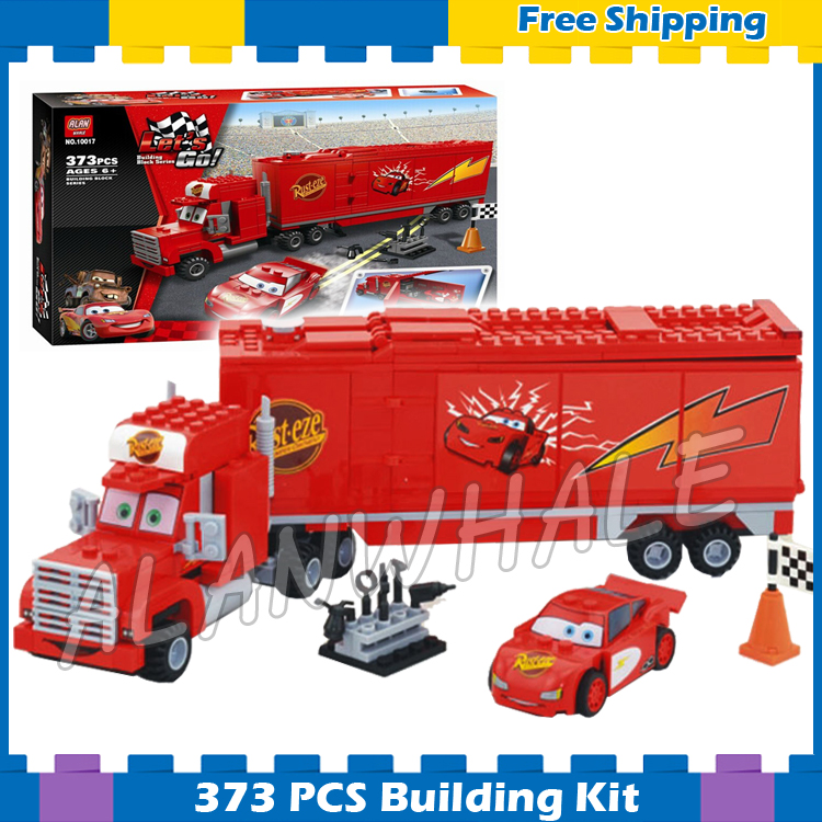 198pcs New Pixar Cars Reds Water Rescue 10013 Model Building Blocks Children Gifts Sets Fire Engine Compatible With Lego