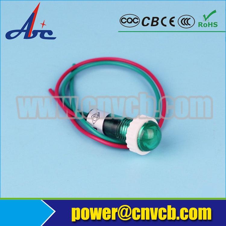 Zs69 Button Blue 10 мм DC12V Пластик индикатор сигнала контрольная лампа сигнальная ...