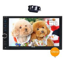 """Upgrade with Camera!  Android 5.1 Double Din Car Stereo 6.2"""" Touch Screen In Dash GPS Navigation AM FM Radio head unit Support"""