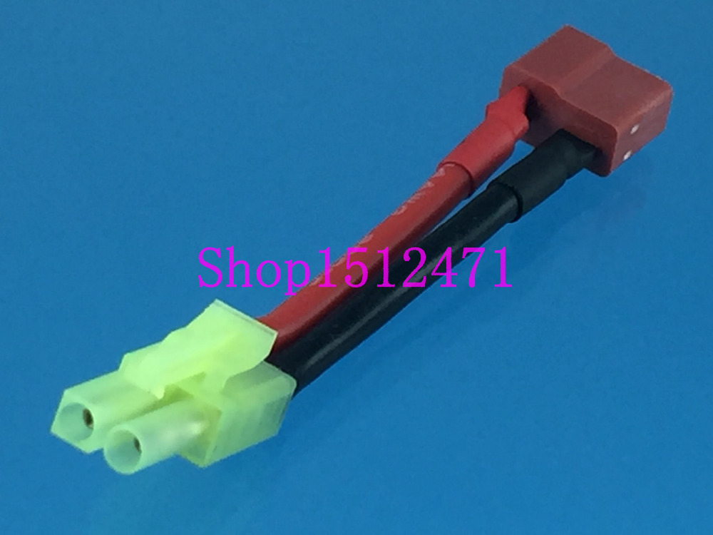 1pce Mini Tamiya Male To T-Plug Deans Female Adapter Charger For Lipo / NiMH
