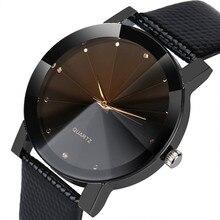 Fabulous Fashion Luxury Quartz Sport Military Stainless Steel Dial Leather Band Wrist Watch Men women watch black