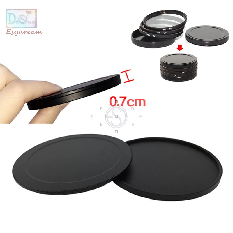 40.5 43 46 49 52 55 58 62 67 72 77 82 mm Protective Metal Case Cap Protector for Canon Nikon Lens Filter 55mm 58mm 77mm 82mm image