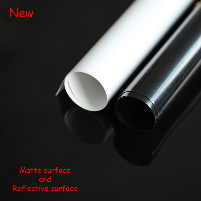 New Thicken PVC Dual-sided Photographic Backdrops Matte And Reflective Surface For Photos Studio Desktop Photography Accessories
