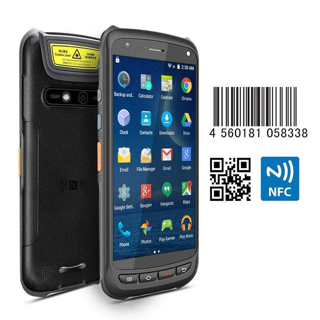 IssyzonePOS Handheld Android Scanner Pos Terminal 2D Barcode PDA Rugged Scanner 4G WiFi GPS Bluetooth NFC PDA Data Collector