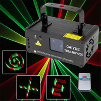 3D DMX512 Effects RGY Red Green Yellow Laser Scanner Projector Full Light DJ Disco Party Xmas