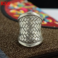 S925 silver adjustable ring opening mouth