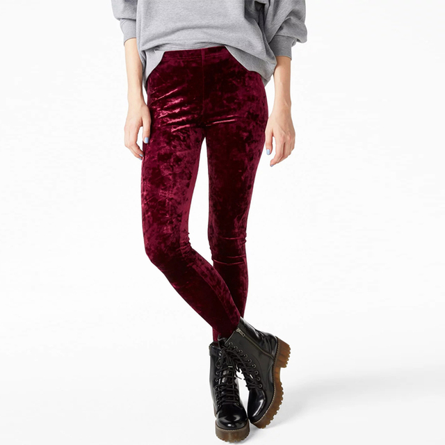 Women Crushed Velvet Legging High Elastic Waist Velvet Legging many colors for you!!