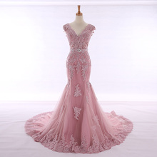 HIRE LNYER V-neck Backless Mermaid Wedding Dresses