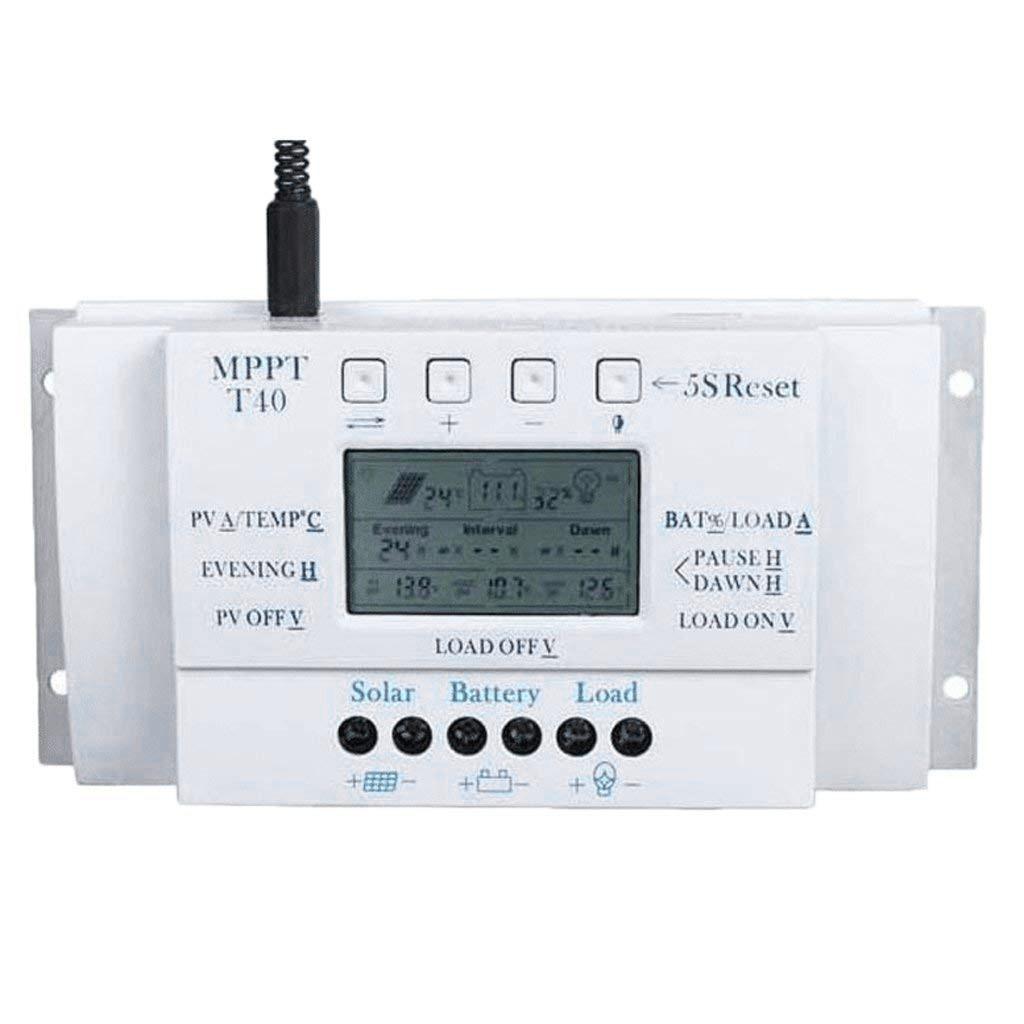 16.5 *9.5 * 6 cm Solar Panel Regulator Charge Controller LCD 3 Timer MPPT40A PWM Controller 12V / 24V
