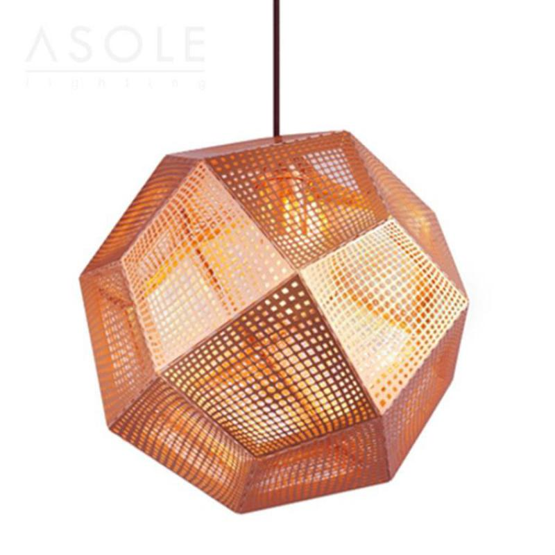 Original Creative Fashion Designer Carved Stainless Steel Led E27 Pendant Light For Living Room Shop Restaurant Dis 32/46cm 1855
