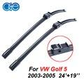 Oge limpiaparabrisas para vw golf 5 2003 2004 2005 par 24 ''+ 19'' rubber bracketless parabrisas cuchillas promociones accesorios del coche cpa108