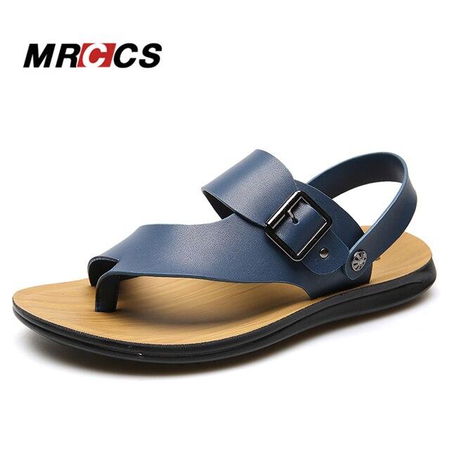 36db1cc9 MRCCS 2017 New Flip Flop Men's Sandals,All Match Simple Design Summer Beach  Shoe,Casual Fashion Yellow/Blue Slip on Slipper