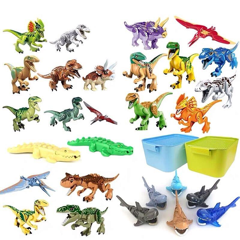 DIY Building Bricks Mini Ninjago People Xmas Birthday Gifts Compatible Legosed Blocks Toys Dinosaurs For Kids with Plastic Box in Blocks from Toys Hobbies
