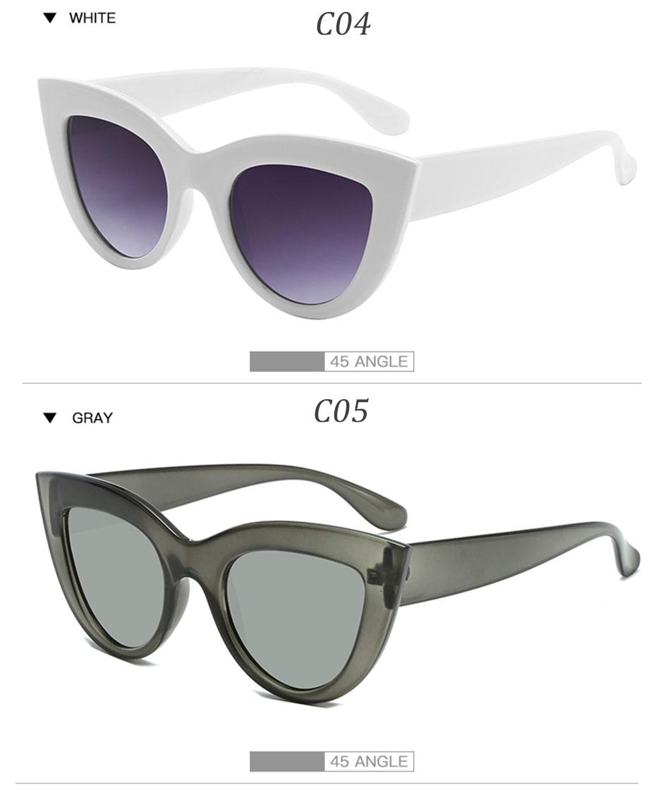 Black Classic Cat Eye Women Sunglasses Designer Brand Trend Style Glasses Adult Eyeglasses 8