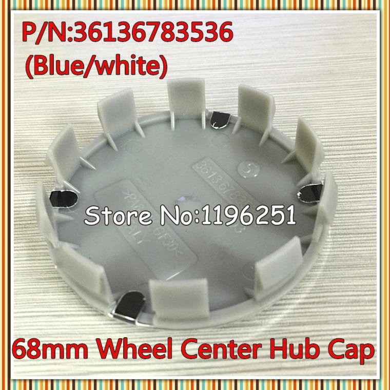 100pcs 68mm High Quality Blue Black all black M sports Wheel Center Cap Badge Emblems 10pin