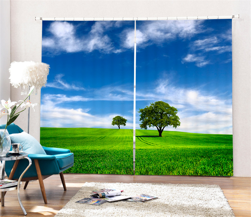 Luxury Vast grassland 3D Blackout Window Curtains For Bedding room Living room Home Wall decorative Hotel Drapes CortinasLuxury Vast grassland 3D Blackout Window Curtains For Bedding room Living room Home Wall decorative Hotel Drapes Cortinas