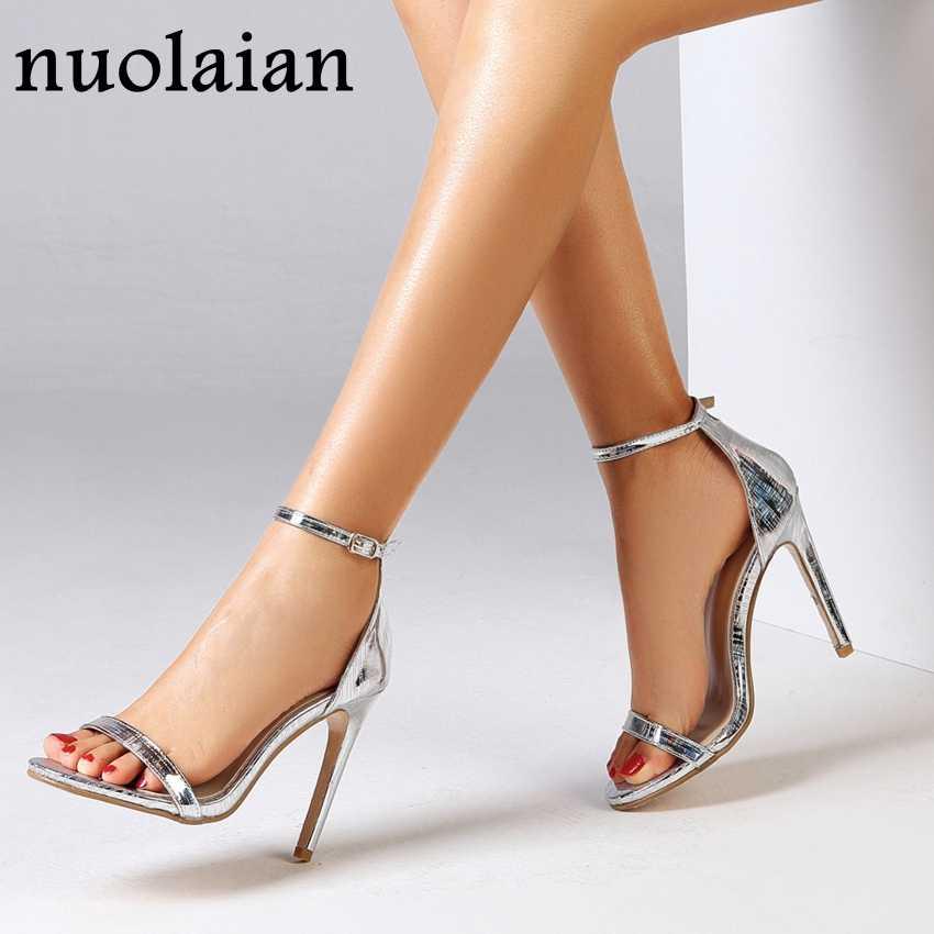 11 CM Topuklu Yaz Sandalet kadın Faux Süet Deri Platform Pompaları Kadın yüksek topuk ayakkabı Elbise Sandalet Ayakkabı Pompa Ayakkabı