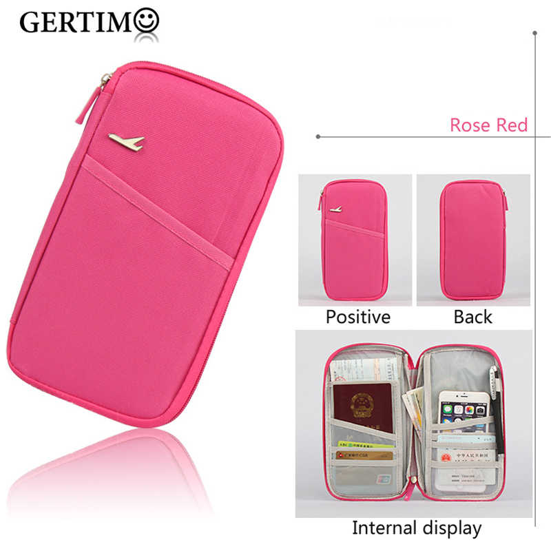 New Travel Passport Cover Multifunction Credit Card Package ID Holder Storage Organizer Clutch Card Wallet Money Bag Z57