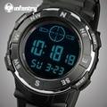 Infantry relojes digitales hombres deportes 30 m impermeable led relojes militar de cuarzo dial grande luminosa cronógrafo relojes de pulsera