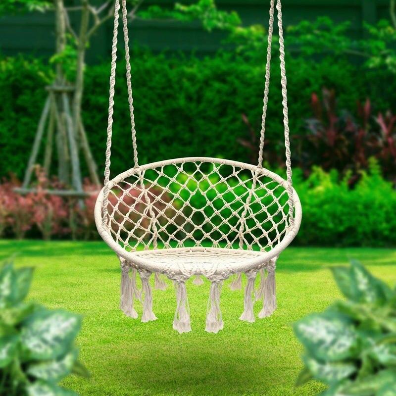 Купить с кэшбэком INS Style Swing Chair With Hanging Hook 110KG Weight Capacity