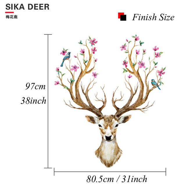 Deer Head 38*31inch 97*80cm 2