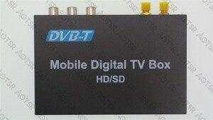 DVB-T Автомобильный цифровой ТВ HD MPEG-4 тюнер приемник две антенны 140-200 км/ч Два чипа тюнер DVB T BOX