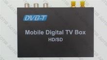 DVB-T Автомобильный цифровой ТВ HD MPEG-4 тюнер приемник две антенны 140 км/ч/Два чипа тюнер DVB T коробка