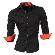 Jeansian wiosna jesień cechy koszule męskie spodnie na co dzień koszula nowy nabytek z długim rękawem Casual Slim Fit koszule męskie kolekcja