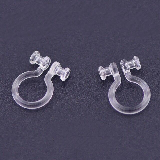 Зажим для ушей прозрачный U-образный из смолы, 30 шт., 11*7,6 мм, фурнитура для изготовления ювелирных изделий своими руками