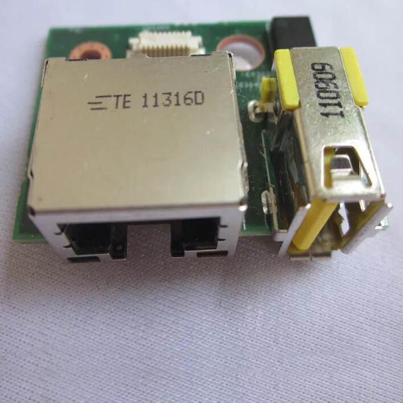I / O (RJ45 + USB) Sub-kort för Lenovo ThinkPad T430 T430i servetter, FRU 04W3690