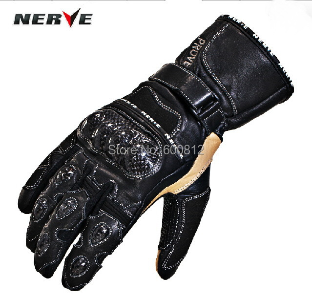 2014 new arrival German NERVE motorcycle race gloves carbon fiber leather riding gloves Drop resistance long gloves