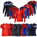 Marvel Super Heroes Мститель Бэтмен футболка Мужчины Сжатия Броня Базовый Слой С Длинным Рукавом Тепловые Под Топ Фитнес XS-8XL