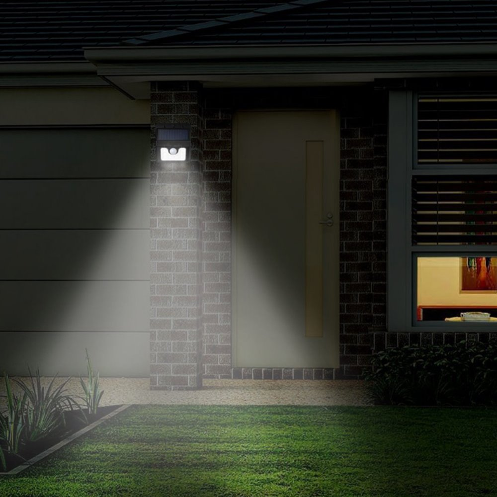 Outside Lights No Earth: Solar Light Outdoor Waterproof Spotlight Stick Up Motion