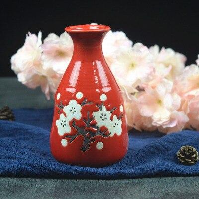 Японский ликер горшок Ретро керамика теплые емкость для ликера дистрибьютор бытовой маленькие белые вина флакон китайский barware Сакура - Цвет: 13