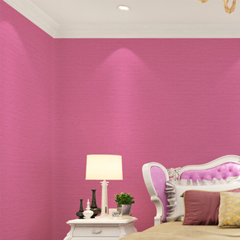 PVC Waterproof 3D Embossed Wallpaper Modern Simple Plain Color Red ...