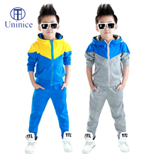 Clothes boys 2016 new arrival baby boys hoodied coats and jackets +pants sets korean fashion clothing sports suit kids tracksuit