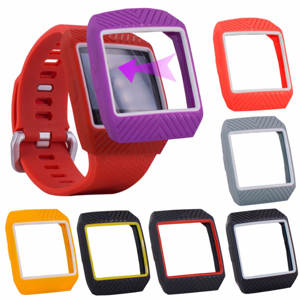 2018 New Colorful Silicone Frame Skin Cover Protective Case Replacement For Fitbit Ionic Smart Watch