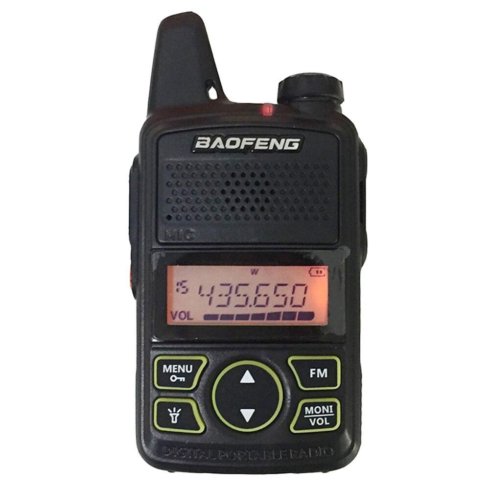 BAOFENG T1 MINI Two Way Radio BF-T1 Talkie Walkie UHF 400-470 mhz 20CH Portable Jambon FM CB Radio émetteur-Récepteur de poche