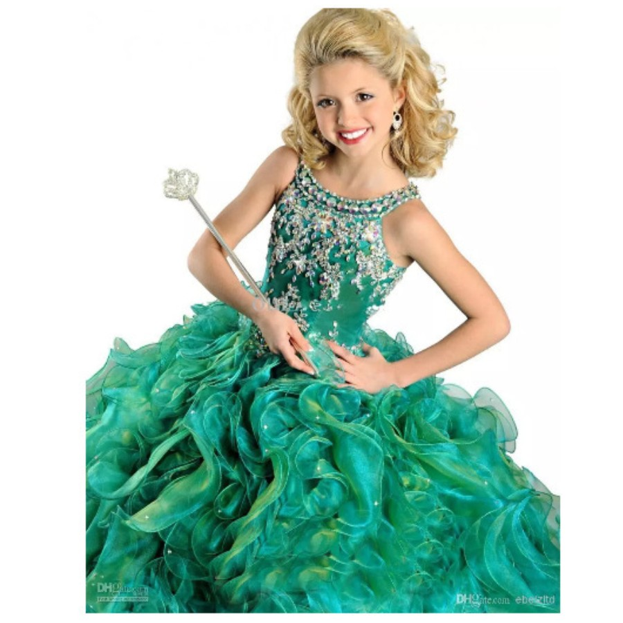 Green Pageant Dresses for Girls Promotion-Shop for Promotional ...