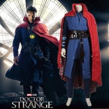 Doctor Strange Cosplay Costume Dr.Strange Steve Cosplay Outfit Marvel Movie Superhero Battle Suit Halloween Cosplay Costume