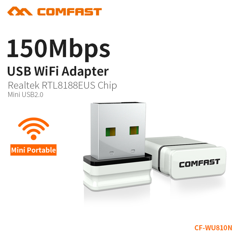 COMFAST Mini USB WiFi Adapter 150Mbps Wifi Receiver External Wireless Network Card Portable Adaptador wi fi Dongle 802.11n/b/g