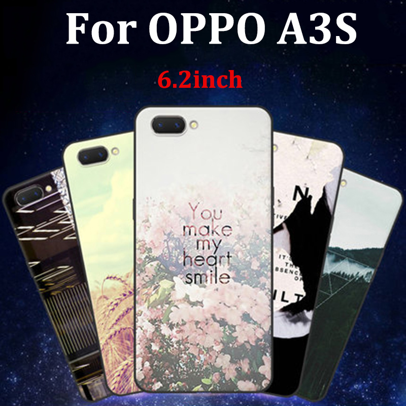 For OPPO A3S case cover cute cartoon soft phone cases For OPPO A3 S case cover OPPOA3S shell fundas For OPPO A3S coque skin image