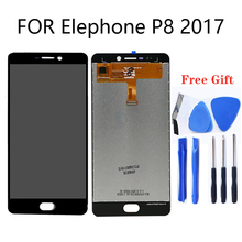 For Elephone P8 2017 LCD display, digitizer touch input component + free tool for Elephone P8 2017 smartphone repair parts for elephone p8 mini 5 lcd display touch screen tablet screen for elephone p8 mini lcd monitor repair kit free shipping