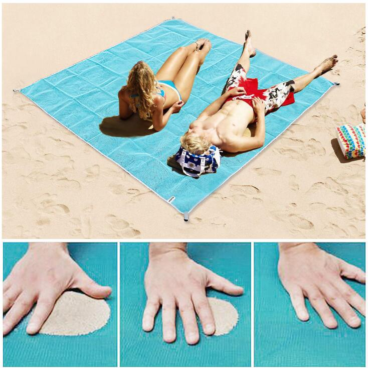 Sand Free Beach Mat Portable Blue Beach Mat Anti-slip Sand Mats Rug Drop Shipping