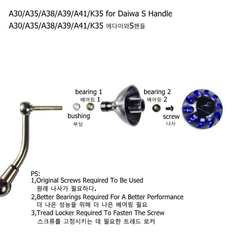 Gomexus Reel Handle Power Knob For Penn Clash Conflict 2000-4000 Reel Handle 35mm Direct