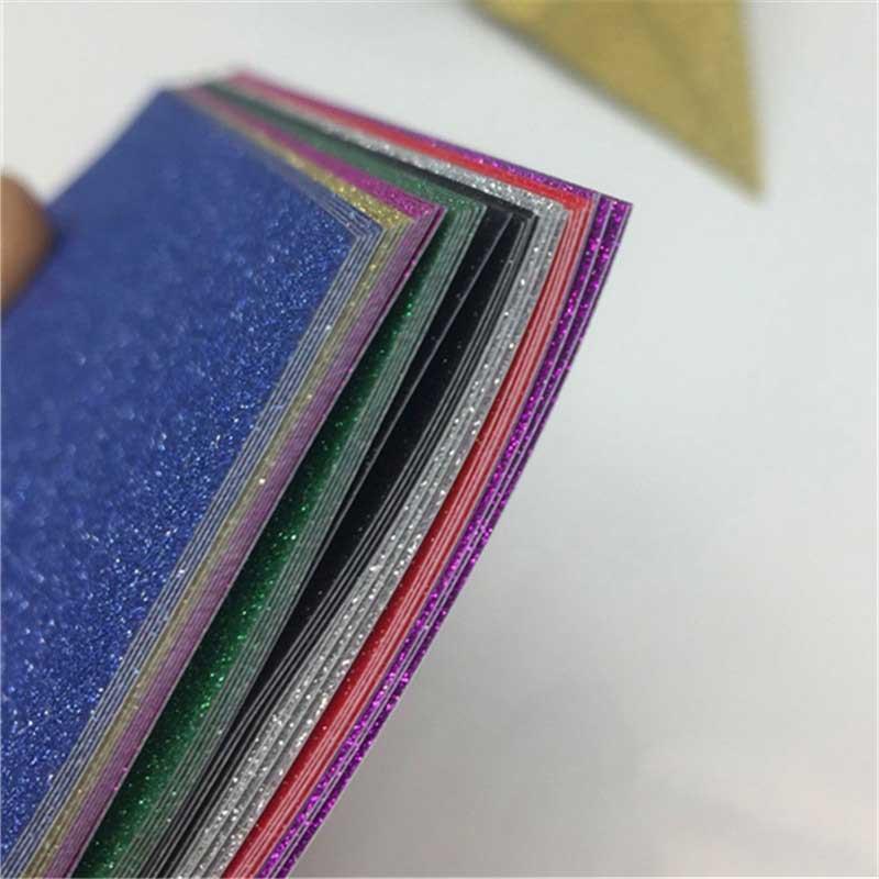 8Pcs Origami Paper DIY Scrapbooking Craft Square Single Side Folding Shining Multicolor Kids Handmade Album Card Embossing