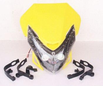 XUANKUN, moto de motocross modificada, accesorios para coches de calle, faros LED, máscara fantasma, lámpara de sombra