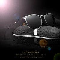 VEITHDIA Aluminum Magnesium Mens Sunglasses HD Polarized Sunglasses Malel Vintage Ultra Thin Eyewear Accessories For Men
